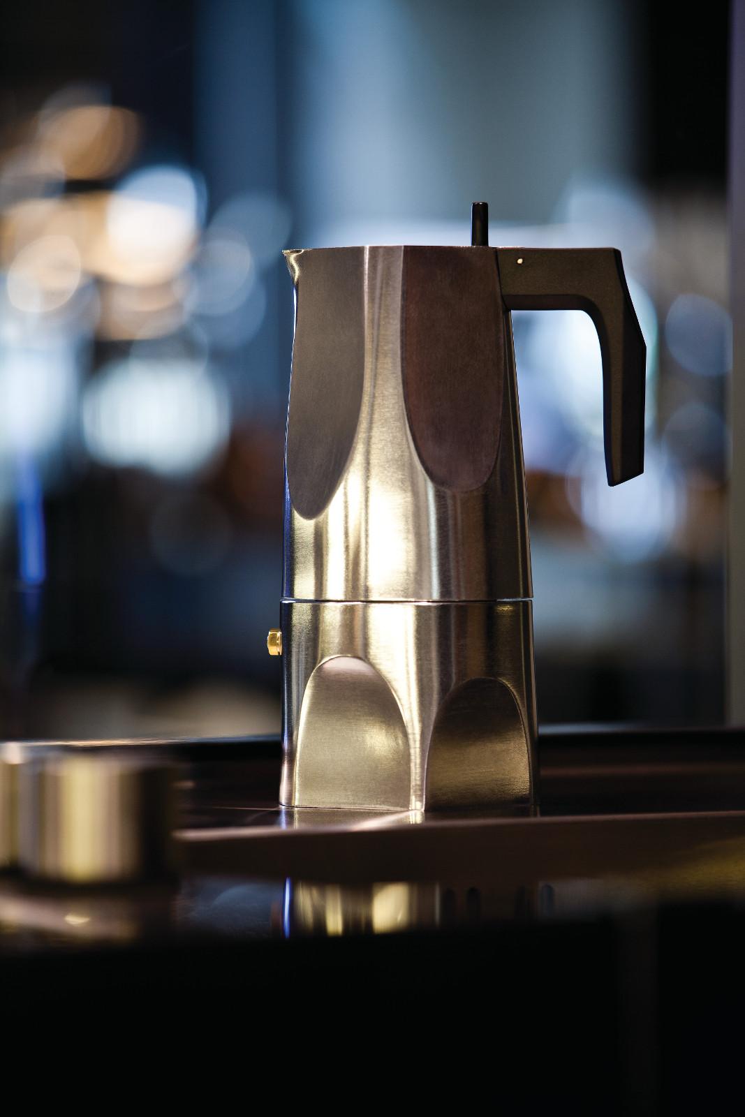 3 Cup Alessi Ossidiana Espresso Coffee Maker