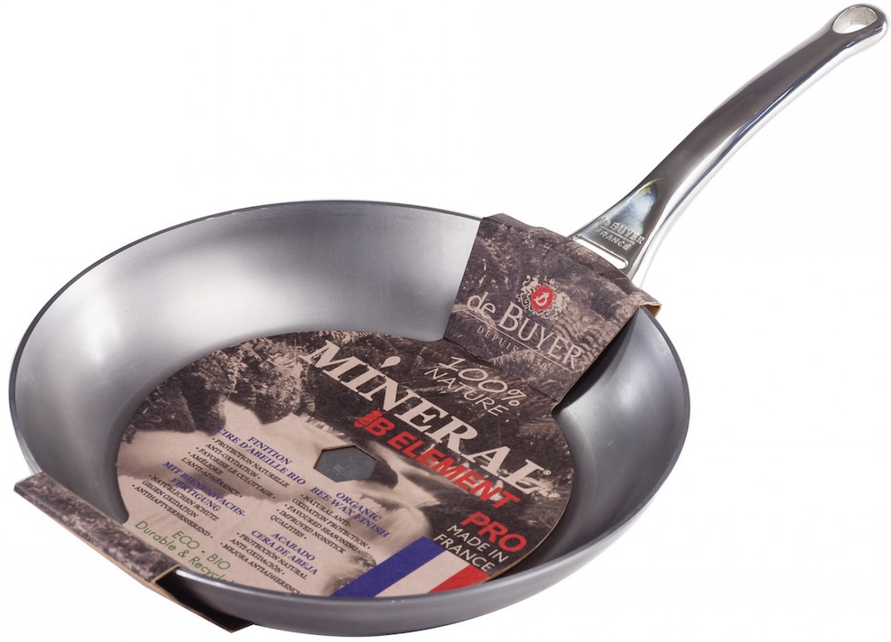 De Buyer Mineral B Element Pro Carbon Steel Frying pan - Crema