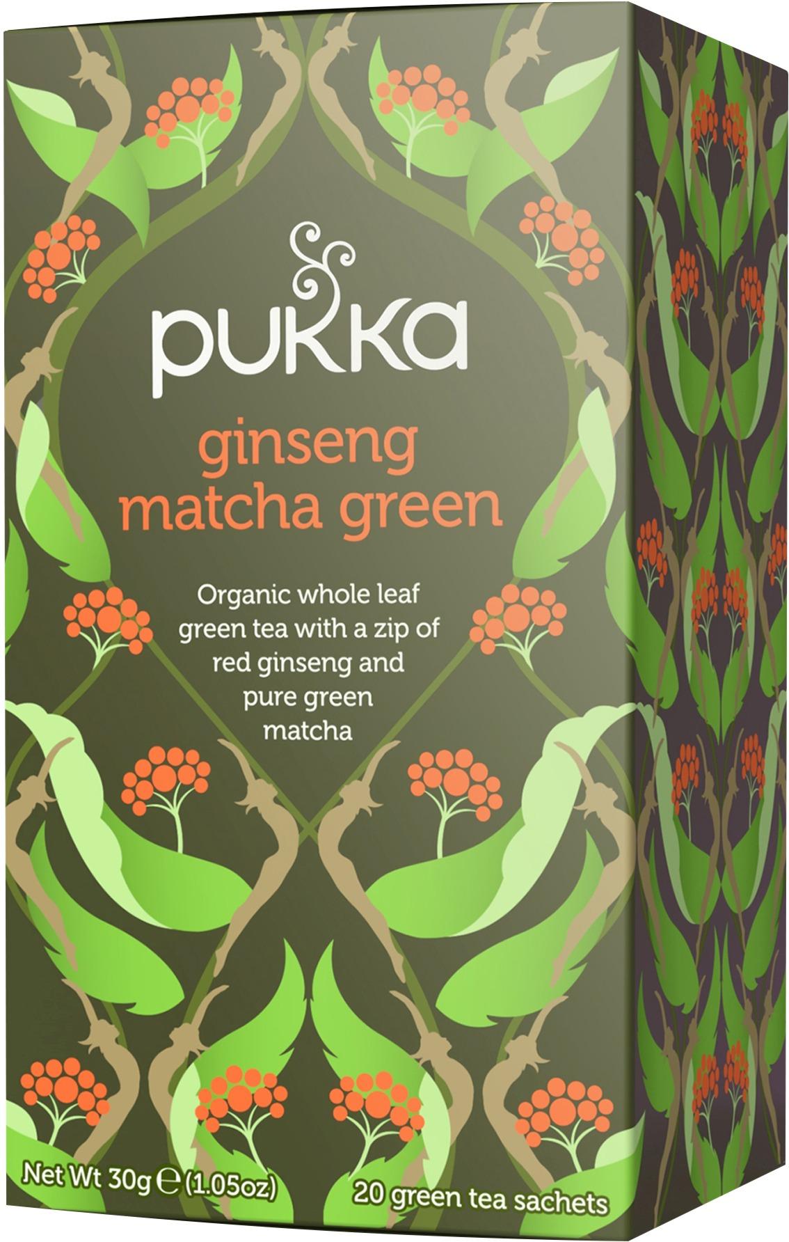 Pukka Organic Ginseng Matcha Green Tea Bags Crema