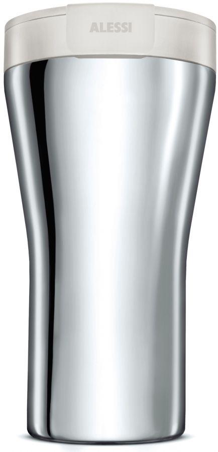 Alessi GIA24 Caffa Double Walled Travel Mug 400 ml, White