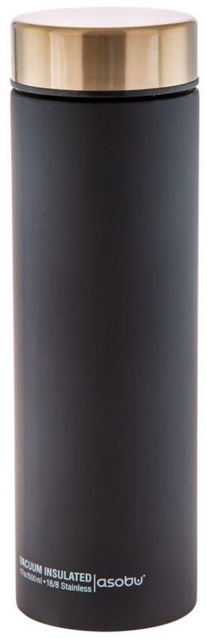 Asobu Le Baton Travel Bottle 500 ml, Black/Steel