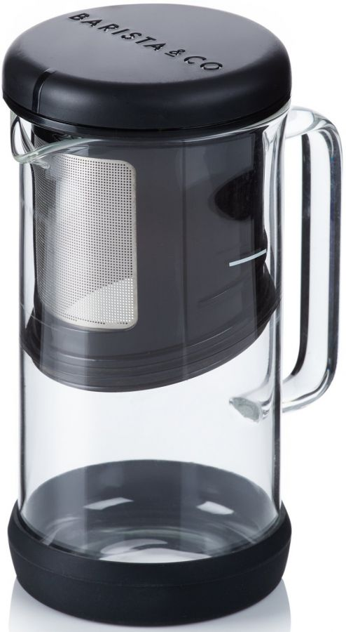 Barista & Co One Brew Coffee and Tea Infuser, Black
