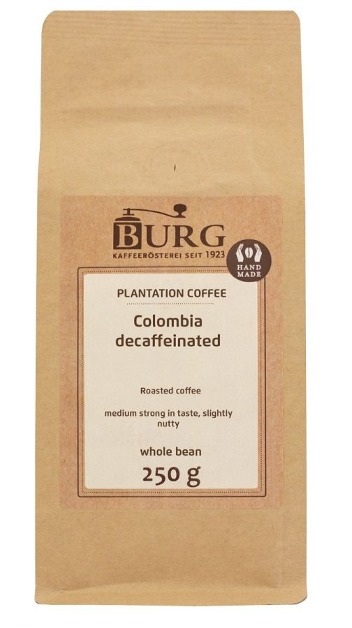 Burg Colombia Excelso Decaf 250 g Coffee Beans