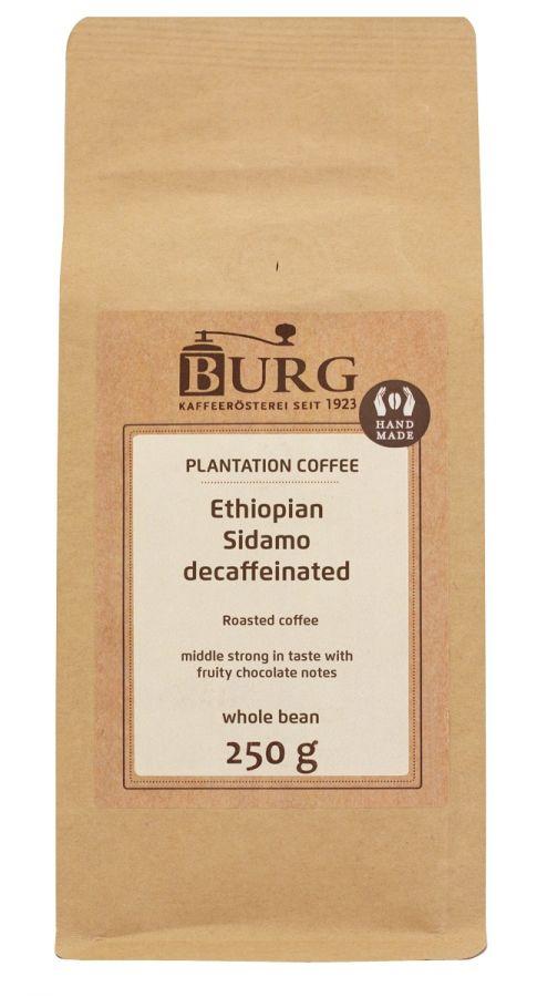 Burg Ethiopia Sidamo Decaf 250 g Coffee Beans