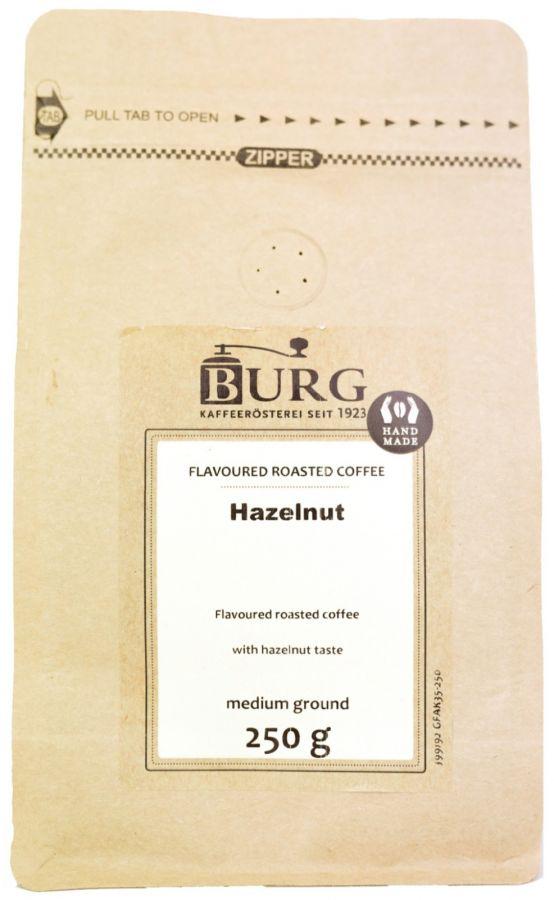 Burg Flavoured Coffee, Hazelnut 250 g