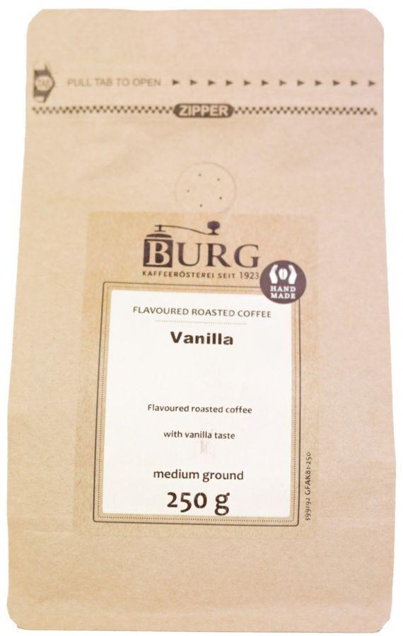 Burg Flavoured Coffee, Vanilla 250 g