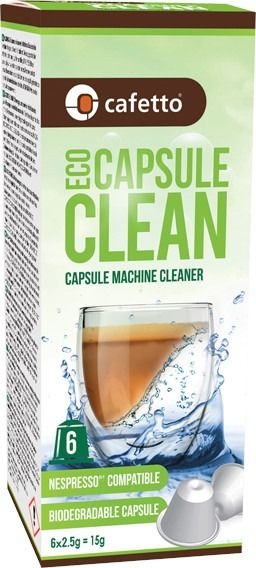 Cafetto Eco Capsule Clean Organic Cleaning Capsule 6 pcs