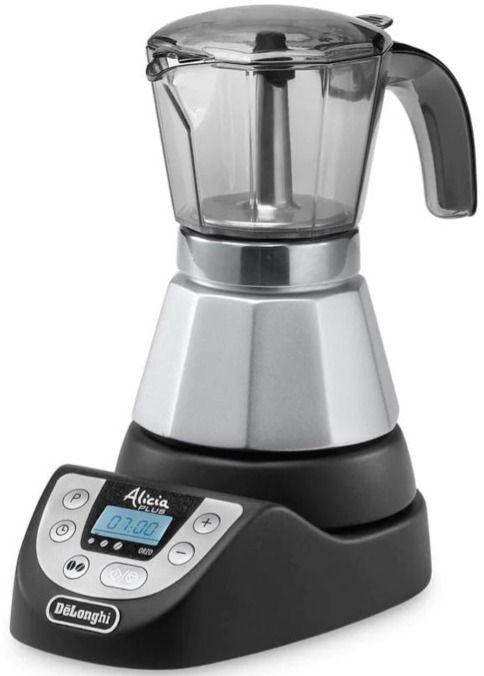 DeLonghi EMKP 42.B Alicia Plus Electric Stovetop Espresso Maker, 2 & 4 Cups