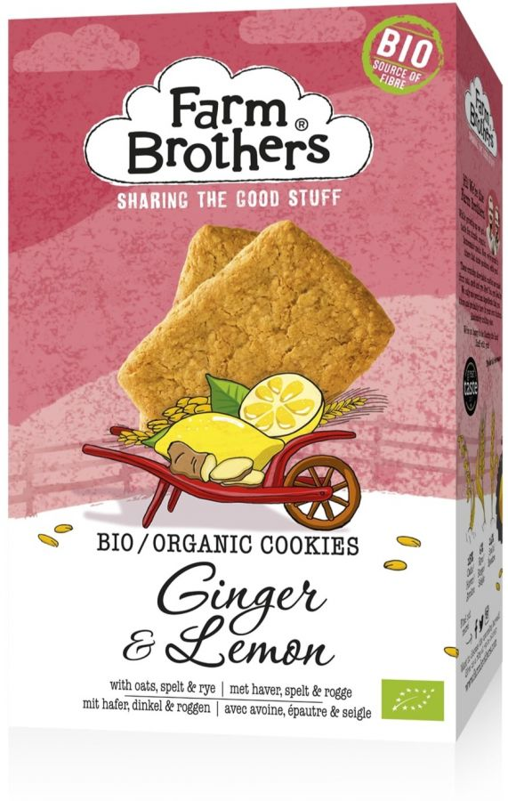 Farm Brothers Organic Ginger-Lemon Cookies 150 g