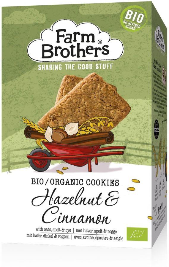 Farm Brothers Organic Hazelnut & Cinnamon Cookie 150 g