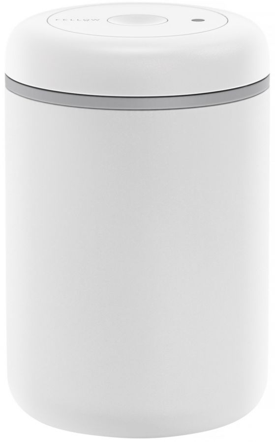 Fellow Atmos Vacuum Canister 1200 ml, Matte White Steel