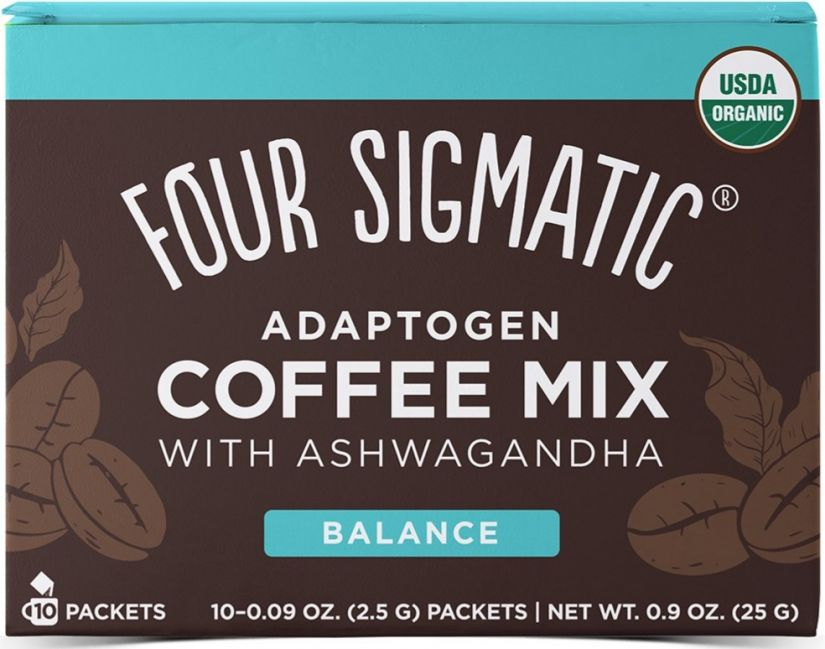 Four Sigmatic Adaptogen Coffee Mix With Ashwagandha, 10 Bags