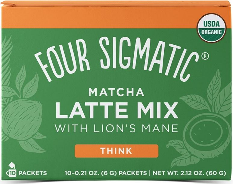 Four Sigmatic Matcha Latte With Lion's Mane, 10 Packets