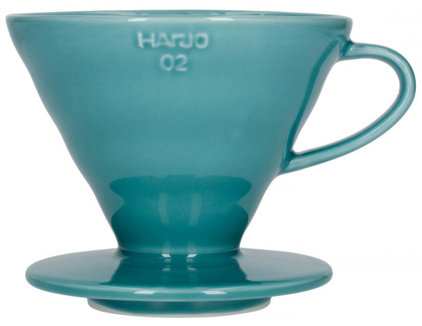 Hario V60 Ceramic Dripper Size 02, Turquoise Green