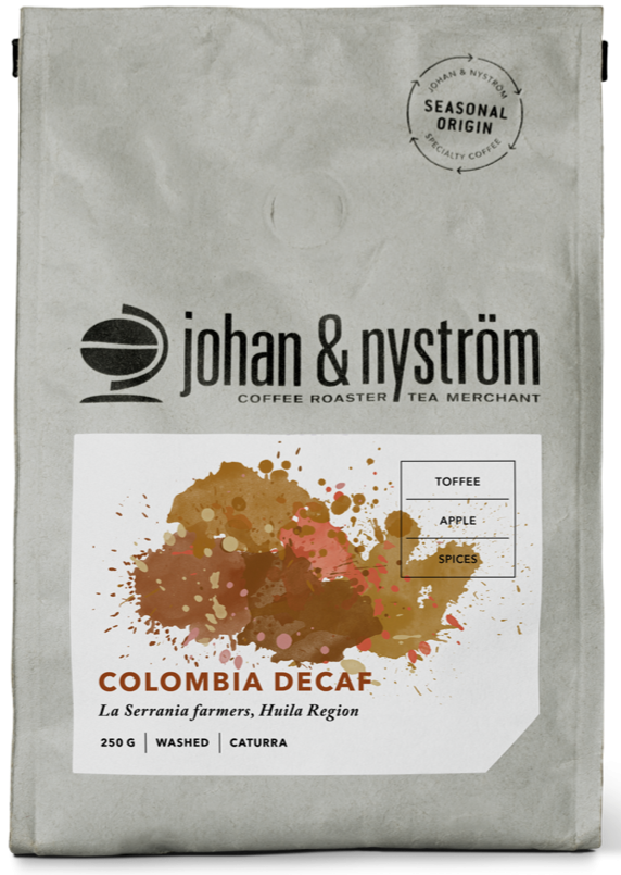 Johan & Nyström Colombia Decaf 250 g Coffee Beans