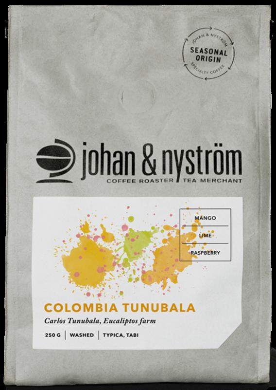 Johan & Nyström Colombia Tunubala 250 g Coffee Beans