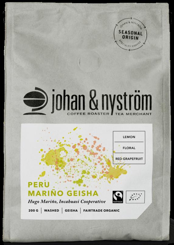 Johan & Nyström Peru Mariño Geisha 250 g Coffee Beans