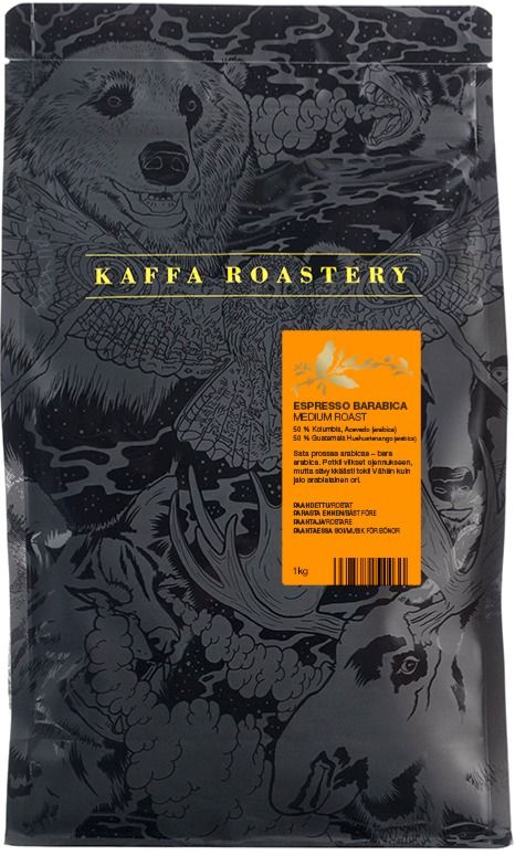 Kaffa Roastery Espresso Barabica 1 kg Coffee Beans