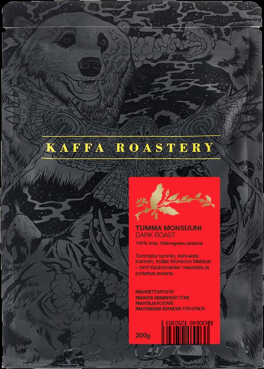 Kaffa Roastery Tumma Monsuuni 200 g Coffee Beans