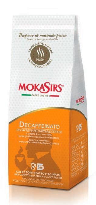 MokaSirs Decaffeinato 180 g Ground Coffee