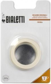 Bialetti spare gaskets for the 2 cup Brikka moka pot