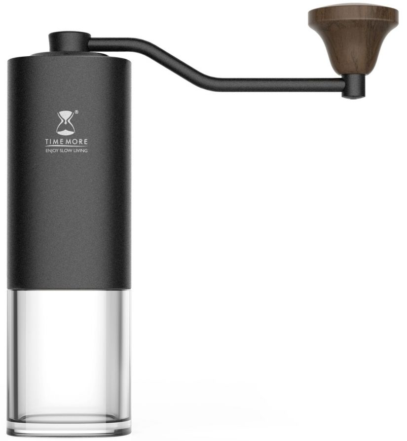 Timemore Chestnut Coffee Grinder, Black with Transparent Base