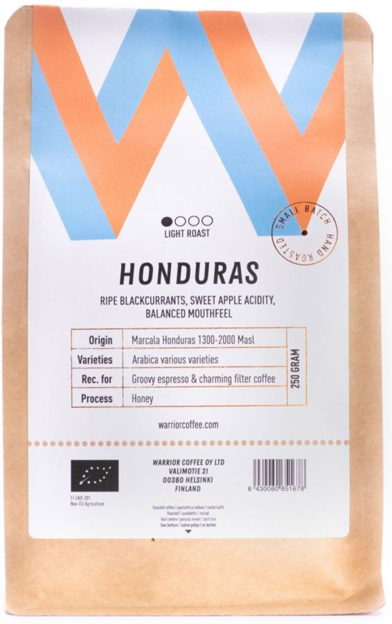 Warrior Coffee Honduras Comsa Organic 250 g Coffee Beans