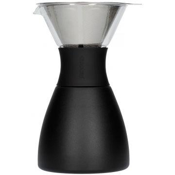 Asobu PourOver-PO300 Insulated Coffee Maker, Black/Black