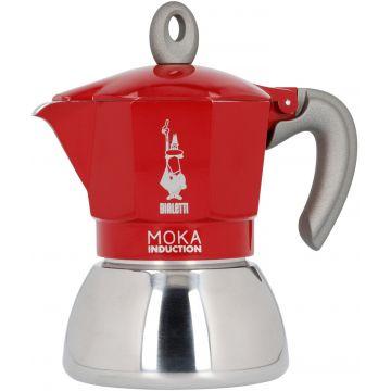 10.5oz//6 Cups Moka Coffee Pot Coffee Brewer Red Stovetop Espresso Maker