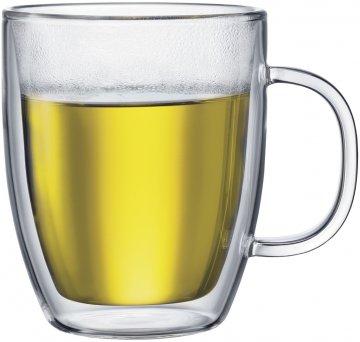 Bodum Bistro Double Walled Glass Mug 450 ml, 2 pcs
