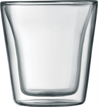 Bodum Canteen Double Wall Glass 100 ml, 2 pcs