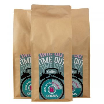 Crema Time Out filter coffee 3 x 1 kg ground