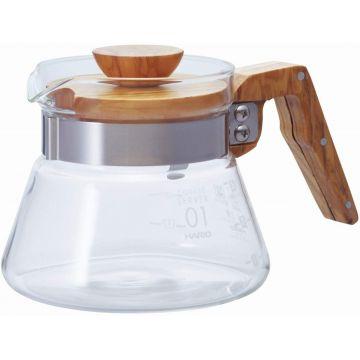 Hario Coffee Server Olive Wood Size 01, 400 ml