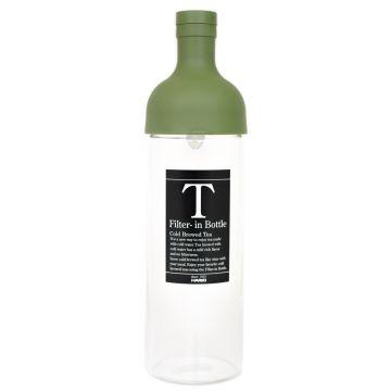 Hario Filter-in Bottle Cold Brew Tea Bottle 750 ml, Olive Green