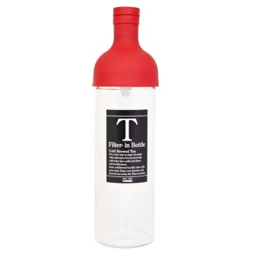 Hario Filter-in Bottle Cold Brew Tea Bottle 750 ml, Red