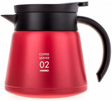 Hario V60 02 Insulated Stainless Steel Server 600 ml, Red