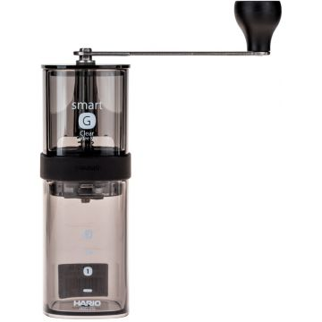 Hario Smart G Coffee Mill, Transparent Black