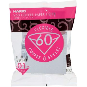 Hario V60 Size 01 Coffee Paper Filters 100 pcs