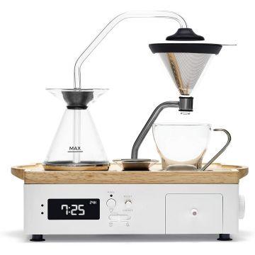 Joy Resolve Barisieur Coffee & Tea Alarm Clock, White