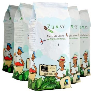 Puro Organic Bio 9 x 1 kg coffee beans wholesale package