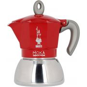 Bialetti Moka Induction Red 4 Cup Stovetop Espresso Maker