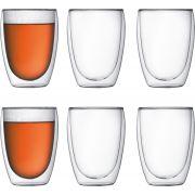 Bodum Pavina Double Wall Glass 360 ml, 6 pcs