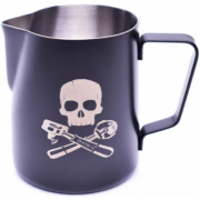JoeFrex Powder Coated Milk Pitcher 350 ml, Black Skull
